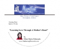 Learning Love Through a Mother's Heart (Magnificat) CD - Ellen Marie Edmonds - Product Image